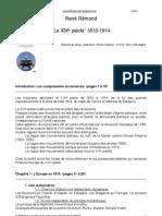 Fiche Lecture - Remond - XIXe Siecle - Introduction Et Chapitre 1