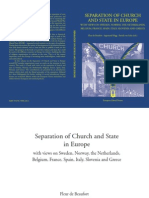 Separation of Church and State in Europe