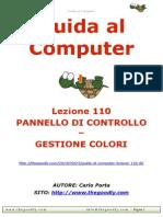 Guida al Computer - Lezione 110 - Pannello di Controllo - Gestione colori