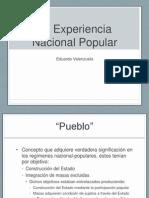 La Experiencia Nacional Popular