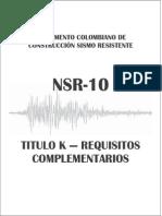 Nsr-10 Titulo k