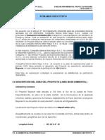 Sumario Ejecutivo. Evaluacion Ambiental Pryecto Bayovar
