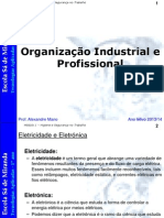 Tecnologias Aplicadas - Organização Industrial e Profissional