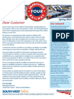 Improving Your Railway Newsletter Spring2013