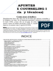 APUNTES SOBRE Counseling Teoria y Tecnicas Espanhol