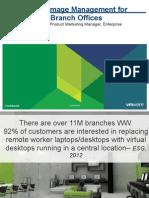 VMware Branch Office Desktop - Customer Presentation