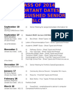 distinguished senior portfolio deadlines 2013-14