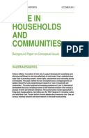 Care in households and communities: Background paper on conceptual issues
