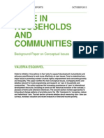 Care in households and communities