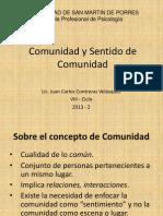 Clase 4 - Comunidad y Sentido de Comunidad - 2013 - 2