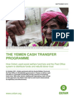 The Yemen cash transfer programme