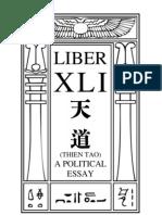 Aleister Crowley - Liber XLI - Thien Tao
