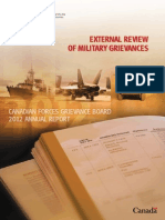 2012 Report - External Review of Canadian Military Grievances
