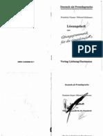 Ubungsgrammatik Fur Die Grundstufe LOSUNGSHEFT - DeUTSCH ALS FREMDSPRACHE Friedrich C Erhard H