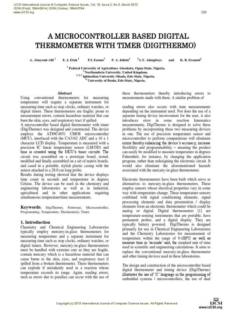 A Microcontroller Based Digital Thermometer With Timer Digithermo The Electronic Circuit Diagram For Blind Electrical Analog To Converter