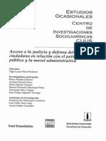 CIJUS - Acceso a La Justicia y Defensa Del Interes Ciudadano en Relacion Con El Patrimonio Publico y Mora