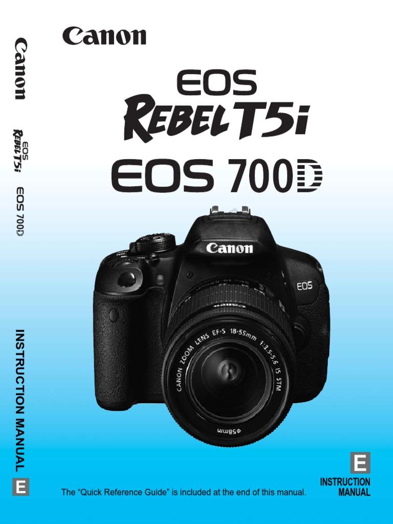 Canon EOS Rebel T5i / 700d | Exposure (Photography) | Camera