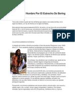 El Paso Del Hombre Por El Estrecho de Bering