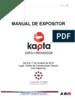 Manual Kapta Expo Proveedor 2013
