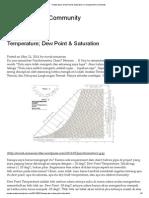 Temperature; Dew Point & Saturation