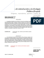 Breve guía de introducción a la ecología política - Palacio