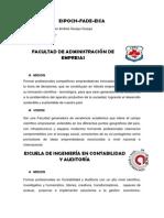 Mision y Vision de La FADE EICA