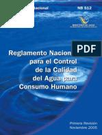 Nb512 - Reglamento Nacional Para El Control de Calidad de Agua Para El Consumo Humano