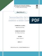 PRACTICA 1 ISOMERIZACION DEL ÁCIDO MALEICO A ÁCIDO FUMARICO
