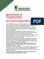 com1338 - 081007 Supera Gobernador los 240 millones de pesos entregados en créditos