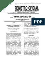 Registro Oficial - Tarifas Egeda