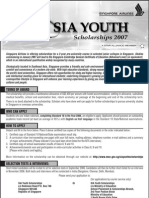 2007 SIA Youth Scholarship Application Form