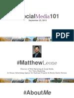 Social Media according to Matthew Leone