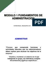 Modulo 1 Fundamentos de Administracion