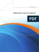 pyp mathematics scope  sequence