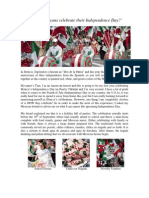 READING - How Do Mexicans Celebrate Their Independence Day