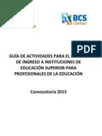 Guia de Estudio Para Proceso de Admision 2013
