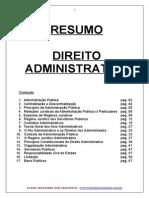 APOSTILA DE DIREITO ADMINISTRATIVO - RESUMÃO