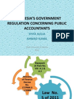 INDONESIA'S GOVERNMENT REGULATION CONCERNING PUBLIC ACCOUNTANTS