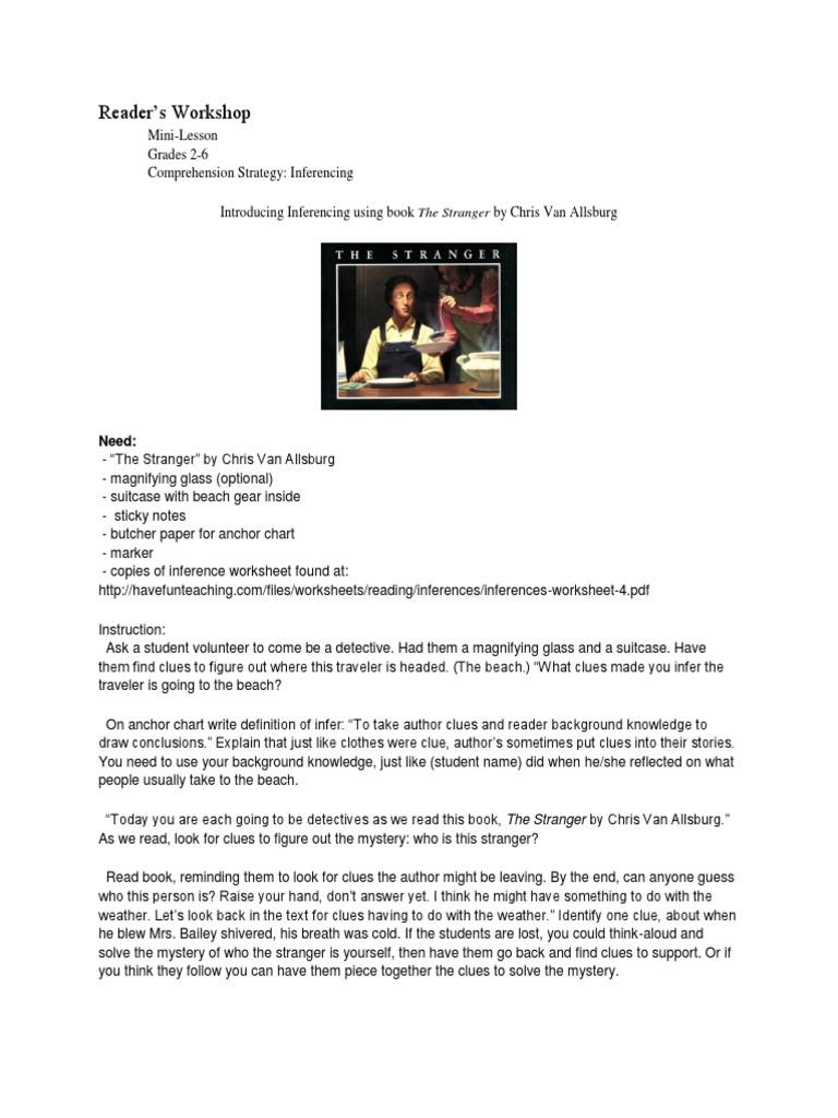 worksheet Inferences Worksheet 2 mini lesson on inferencing using the stranger inference psychology cognitive science