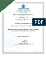 Declaração de Participação Curso de Como medir corretamente a PA