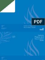 Brochure for Peace & R Studies