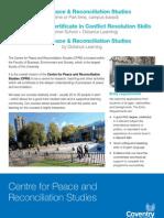 Peace & R Studies Leaflet