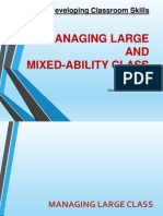 Managing Large and Mixed-Ability Class PPT