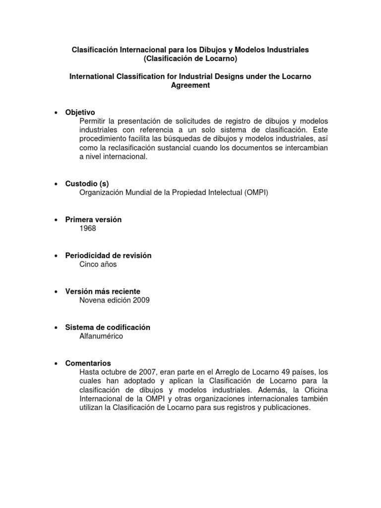 Clasificacion De Locarnocx Technology Industries