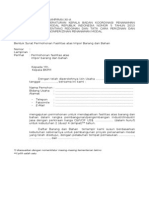 FORMULIR Fasilitas Atas Impor Barang Dan Bahan