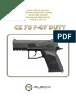 Manual de Instrucciones Cz 75 P 07 DUTY Es