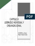 Capitulo II Liderazgo Individual y Organizacional