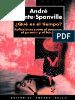 André Comte-Sponville - Qué es el tiempo