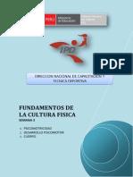 FUNDAMENTOS DE LA CULTURA FISICA - MÓDULO III - SEMANA 3