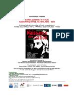 Napoleon 3 Et l'Italie Dossier de Presse